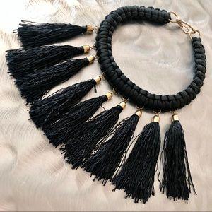 Jewelry - Black Cord Tassel Fringe Necklace